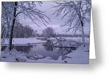 Snowy River Bend Greeting Card