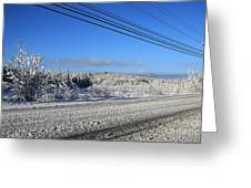 Snowy Roads Greeting Card by Michael Mooney