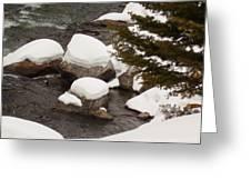 Snowy Rocks Greeting Card by Yvette Pichette