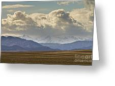 Snowy Rocky Mountains County View Greeting Card