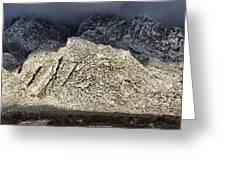 Snowy Sandia Mountain Range Huge Panorama 1150 Greeting Card