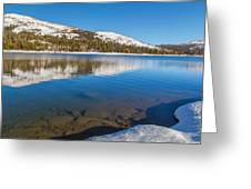 Snowy Shoreline Greeting Card