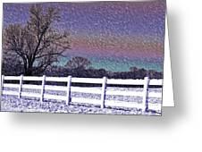 Snowy Snowy Night  Greeting Card