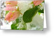 Snowy Spring 1 - Digital Painting Effect Greeting Card