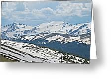 Snowy Terrain Near Top Of Trail Ridge Road In Rocky Mountain Np-co   Greeting Card