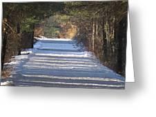Snowy Trail Greeting Card