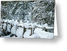 Snowy Wagner's Bridge Greeting Card