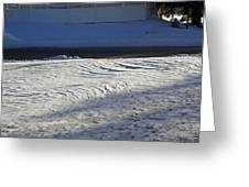 Snowy Waves In January Greeting Card