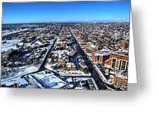 Snowy West Side Winter 2013 Greeting Card