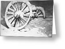 Snowy Wheel  Greeting Card