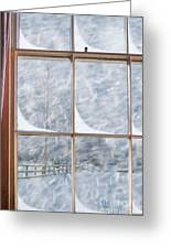 Snowy Window Greeting Card