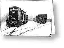 Snowy Yard Greeting Card