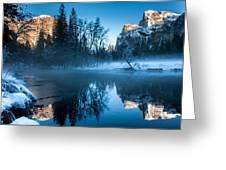 Snowy Yosemite Greeting Card