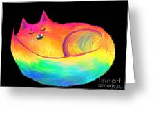 Snuggle Cat Greeting Card