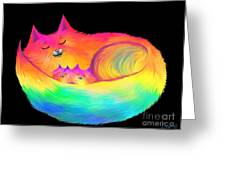 Snuggle Cats Greeting Card