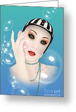 Soap Bubble Woman  Greeting Card