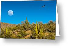 Soaring Moonscape Greeting Card