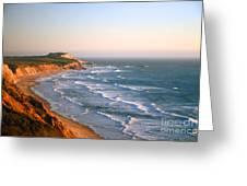 Socal Coastline Sunset Greeting Card