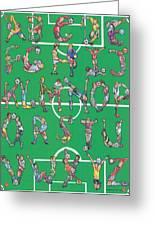 Soccer Alphabet Greeting Card