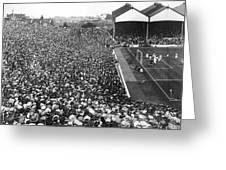 Soccer Crowd At Highbury Greeting Card