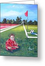 Soccer Field Greeting Card