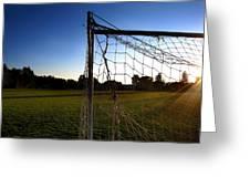 Soccer Sunset Greeting Card