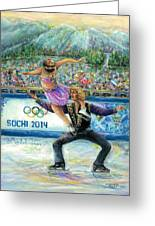Sochi 2014 - Ice Dancing Greeting Card