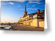 Sochi Sea Port Greeting Card