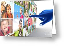 Social Media Network Greeting Card