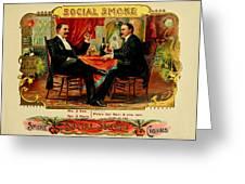 Social Smoke Vintage Cigar Advertisement Greeting Card