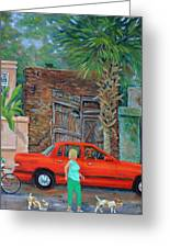Society Street Afternoon Greeting Card