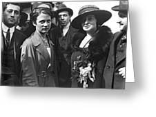 Society Women In Steerage Greeting Card