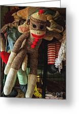 Sock Monkey Greeting Card