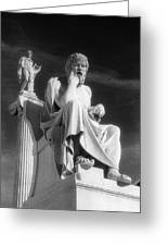 Socrates And Apollon Greeting Card