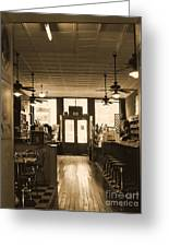 Soda Fountain And General Store Greeting Card