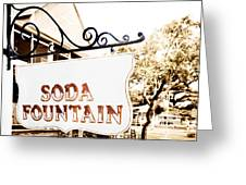 Soda Fountain Sign Greeting Card