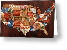 Soda Pop America Greeting Card