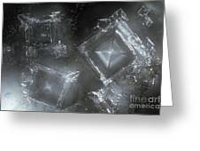 Sodium Hydroxide Crystals Greeting Card