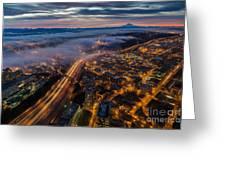 Sodo Sunrise Seattle Morning Greeting Card