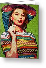 Sofia Loren Greeting Card