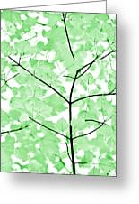 Soft Green Leaves Melody Greeting Card