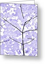 Soft Lavender Leaves Melody Greeting Card