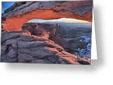 Soft Light On The Rocks Greeting Card