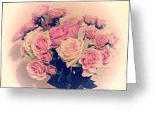 Soft Pastel Roses Greeting Card