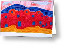 Soft Pueblo Original Painting Greeting Card