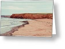 Soft Rain On The Beach Greeting Card by Edward Fielding