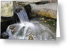 Soft Running Water Greeting Card