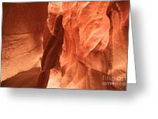 Soft Sculpted Sandstone Walls Greeting Card by Adam Jewell