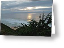 Soft Silvery Pacific Sunset Greeting Card