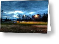 Softball Night At Matthews Elementary School Greeting Card